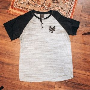 Men's Zoo York Button Raglan Tee